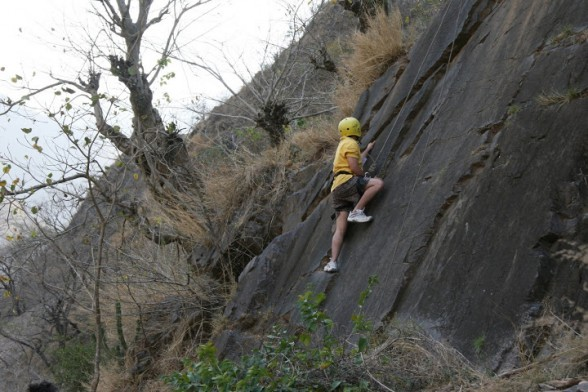 Rock Climbing in Rishikesh Rock Climbing With Rappelling