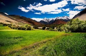 The scenic Zanskar Valley in September